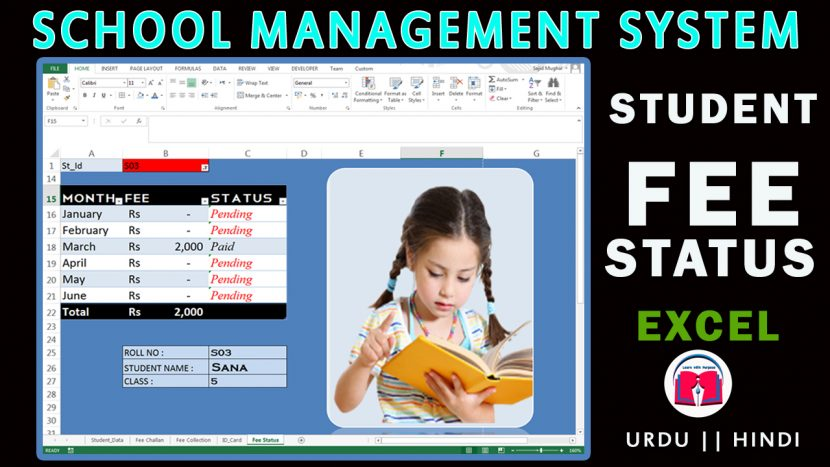 Student Fee Collection and Status System in Excel – My Online Lessons