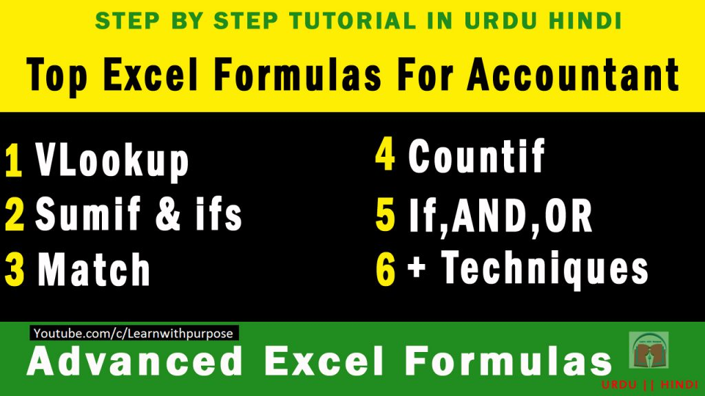 Top Excel Formulas for Accounting || Business Reports || Practical